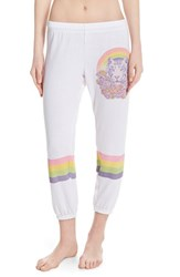 Women's Lauren Moshi 'Alana' Graphic Crop Sweatpants