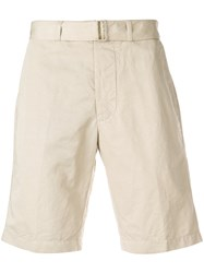 Officine Generale Chino Shorts Nude And Neutrals