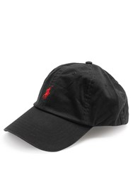 Polo Ralph Lauren Logo Embroidered Cotton Cap Black
