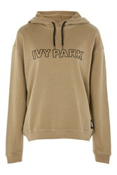 Topshop Silicon Logo Hoodie By Ivy Park Light Green