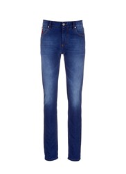 Isaia Slim Fit Selvedge Jeans Blue