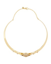 Lydell Nyc Golden Rhinestone Collar Necklace