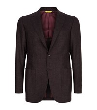 Canali Kei Double Faced Wool Jacket Male Burgundy