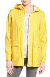 Cole Haan Women's Hooded Rain Jacket Spectra Yellow