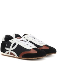 Loewe Logo Nylon And Leather Sneakers Multicoloured