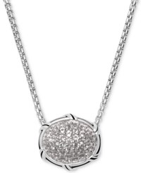 Peter Thomas Roth White Topaz 22 Pendant Necklace 5 8 Ct. T.W. In Sterling Silver