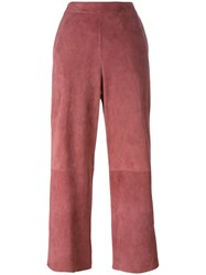 Desa 1972 Panelled Cropped Trousers Pink Purple
