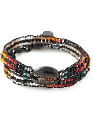 Gas Bijoux Beaded Multi Strap Bracelet Multicolour