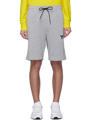 Y 3 Logo Print Sweat Shorts Grey