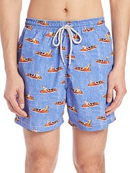 Saks Fifth Avenue Show Boat Swim Trunks Blue