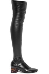 Stella Mccartney Faux Leather Over The Knee Boots Black