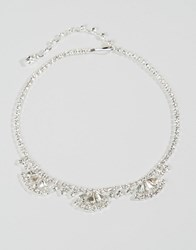Asos Bridal Jewel Choker Necklace Crystal Clear