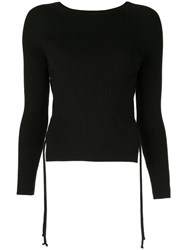 Dion Lee Cut Out Sweater Black