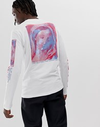 Your Turn Yourturn Long Sleeve Top With Sleeve And Back Print In White