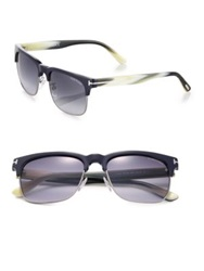Tom Ford 55Mm Square Sunglasses Navy Cream