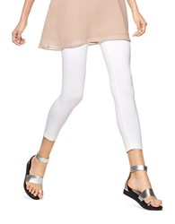 Hue Ultra Capri Wide Waistband Leggings White