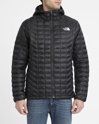 The North Face Black Thermoball Waterproof Synthetic Insulated Hooded Down Jacket