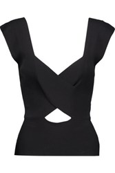 Emilio Pucci Cutout Ribbed Knit Tank Black