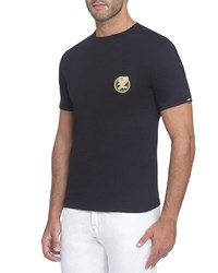 Stefano Ricci Embroidered Jersey T Shirt Black
