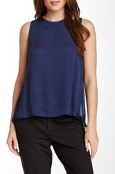 Autograph Addison Woven Open Back Tank Top Blue
