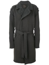 Lost And Found Ria Dunn Modified Coat Men Polyamide Viscose Angora Wool S Grey