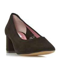 Dune Ana Round Toe Court Shoes Black