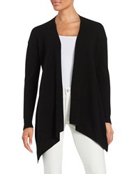 Lord And Taylor Petite Petite Long Sleeve Cashmere Cardigan Black
