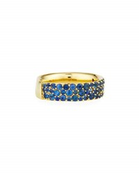 Ippolita 18K Glamazon Stardust Pave Ring In Blue Sapphire