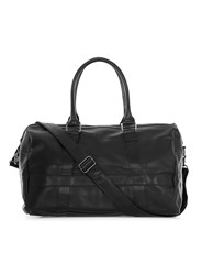 Topman Black Faux Leather Holdall Bag