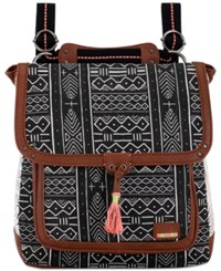 The Sak Pacifica Printed Convertible Medium Backpack A Macy's Exclusive Style Black White Multi