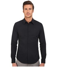 G Star Core Long Sleeve Button Up In Atton Stretch Poplin Black Men's Long Sleeve Button Up