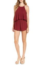 Leith Women's Popover Romper Red Tibetan