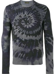 Valentino 'Tie And Dye' Jumper Blue