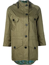 Coach 1941 'Shrunken' Parka Green