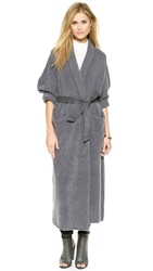 Soyer Cashmere Blanket Coat With Belt Shadow