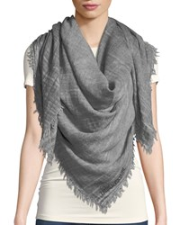 Zadig And Voltaire Anael Fringe Scarf Gray