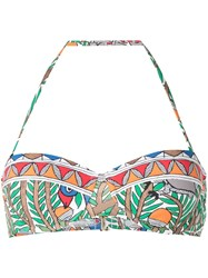 Tory Burch Colour Blocked Underwire Bikini Top White