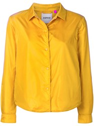 Aspesi Buttoned Jacket Yellow And Orange