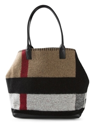 Burberry Wool Check Tote Nude And Neutrals