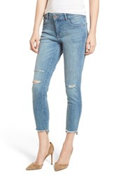 Dl1961 Florence Instasculpt Ripped Crop Skinny Jeans Hendrix