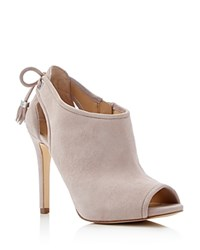 Michael Michael Kors Jennings Peep Toe High Heel Booties Cement