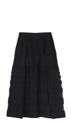 Tibi Striped Jacquard Full Skirt