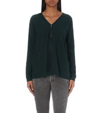 The Kooples Knitted Cashmere Jumper Green