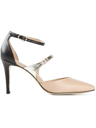 Lola Cruz Pointed Toe Pumps Nude And Neutrals