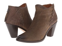 Trask Gianna Forest Italian Washed Nubuck Laser Cut Calf Women's Dress Boots Brown