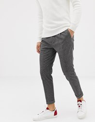 United Colors Of Benetton Cropped Pin Dot Trouser Grey