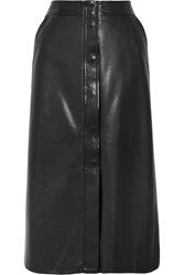 Vilshenko Barbara Faux Leather Skirt Black