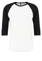 American Apparel Long Sleeved Top White Black