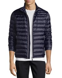Moncler Daniel Quilted Puffer Jacket Navy Gray