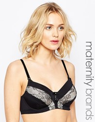 Hotmilk Maternity Lure Nursing Bra Black